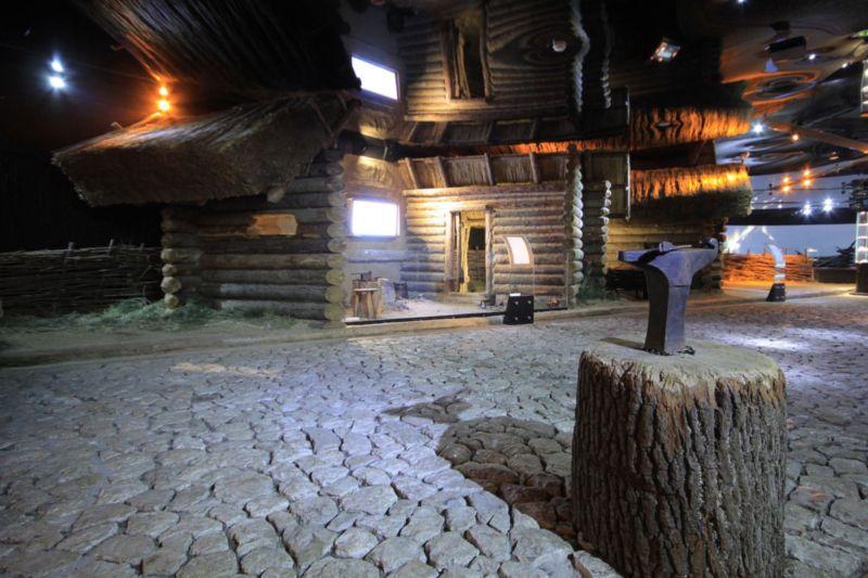 Interior de museo , casas