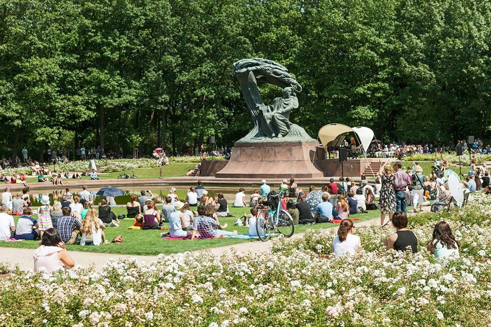 Parque Łazienki en Varsovia